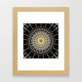 Black White Gold Mandala 2 Framed Art Print