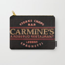 Carmine's Restaurant Neon Sign, Chicago. Carry-All Pouch