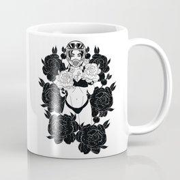 Fight love black rose Coffee Mug