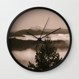 Moments in the fog... Wall Clock