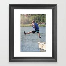 Harry Leaps! Framed Art Print