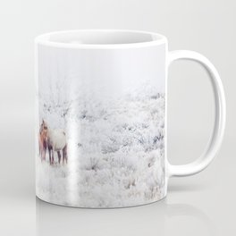 Two Winter Horses Coffee Mug
