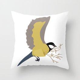 Bæremeis (Great tit carrier ?  :)   ) Throw Pillow