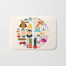 Alice in wonderland + Three Little Pigs aka ALIPIGS Bath Mat