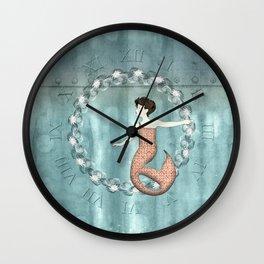 Mermaid Wreath Wall Clock