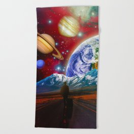 The Hitchhiker Beach Towel