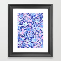 Nonchalant Blue Framed Art Print