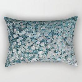 Mermaid Scales Aqua Sol Rectangular Pillow