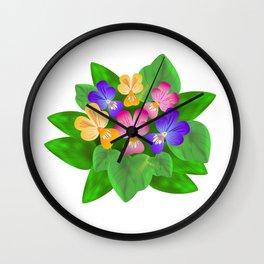 Violet Bouquet, flower, flowers Wall Clock