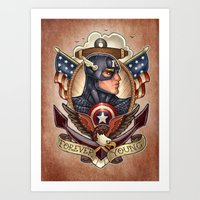 forever young Art Prints featuring FOREVER YOUNG by Tim Shumate