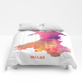 Wales map #wales #map Comforters