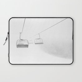 4 Seat Chair Lift Deep Snow B&W Laptop Sleeve