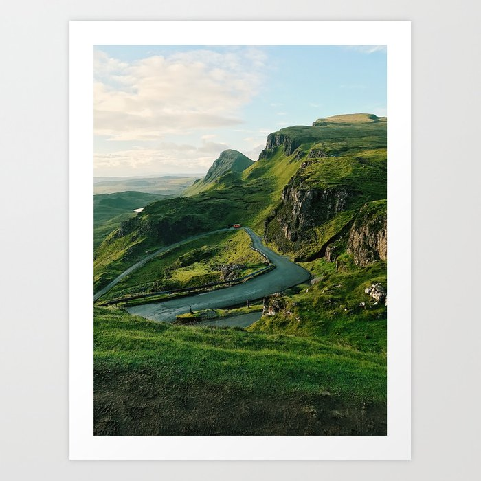 The Quiraing in Isle of Skye, Scotland Art Print