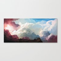 clouds Canvas Prints featuring Clouds by youcoucou