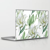 lily Laptop & iPad Skins featuring Lily by Julia Badeeva