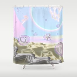 Boy and Girl Shower Curtain
