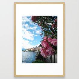 Italy series. Bellagio, lake Como Framed Art Print