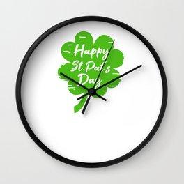Happy St Pat's Day Wall Clock