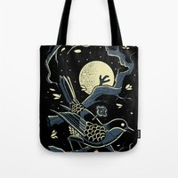 murakami Tote Bags featuring wind up bird chronicle - murakami by miles to go