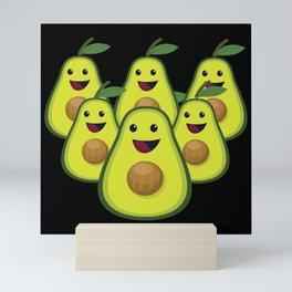 Vegan Avocado Team ,be ready to save animals and follow vegans diet food Mini Art Print