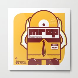 UNDO | Music to the people 10 Metal Print
