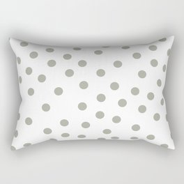 Simply Dots in Retro Gray on White Rectangular Pillow