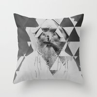 kaleidoscope Throw Pillows featuring Kaleidoscope by Mrs Araneae