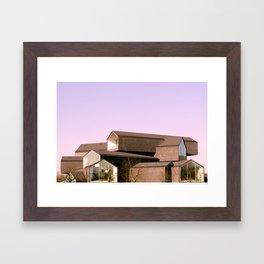 Stack Houses Framed Art Print