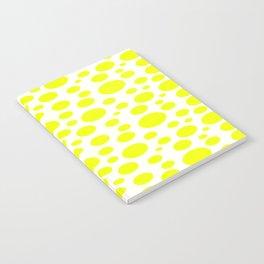Polka Dot Plot: Yellow Notebook