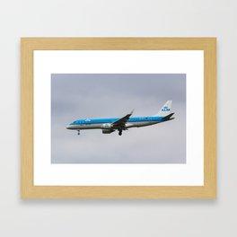 KlM Embraer 190 Framed Art Print