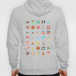 CUTE PIRATES PATTERN (PIRATE SHIP CHARACTERS) Hoody