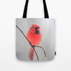 A Cardinal In A Snow Fall Tote Bag