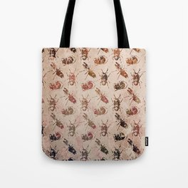 hot buggy mess persimmon brown Tote Bag
