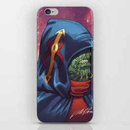 Evil Alien Diplomat Art by Al Rio iPhone Skin