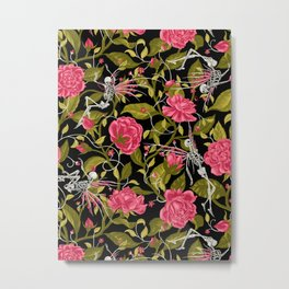 Death of Summer (black and rose) Metal Print