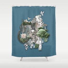 Nangijala –Blue Shower Curtain