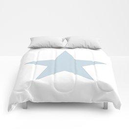 Single dove gray star on white Comforters