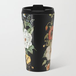 Wildflower Bouquet on Charcoal Travel Mug