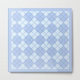 Fashion Blue Argyle Tartan Metal Print