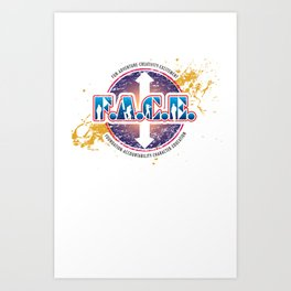 F.A.C.E. Art Print