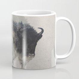 Bison In The Fog Coffee Mug