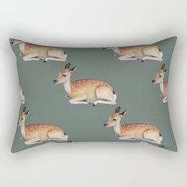 Forest Fawn Pattern Rectangular Pillow