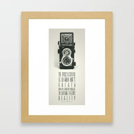 To photograph... Framed Art Print
