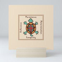 Turtle animal spirit Mini Art Print