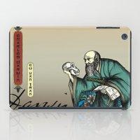 darwin iPad Cases featuring Samurai Charles Darwin by QStar