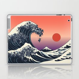 The Great Wave of Black Pug Laptop & iPad Skin