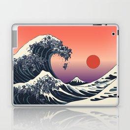 The Great Wave of Black Pug Laptop & iPad Skin