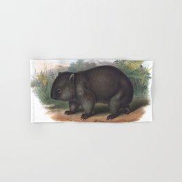 Wombat in the nature of Australia Hand & Bath Towel