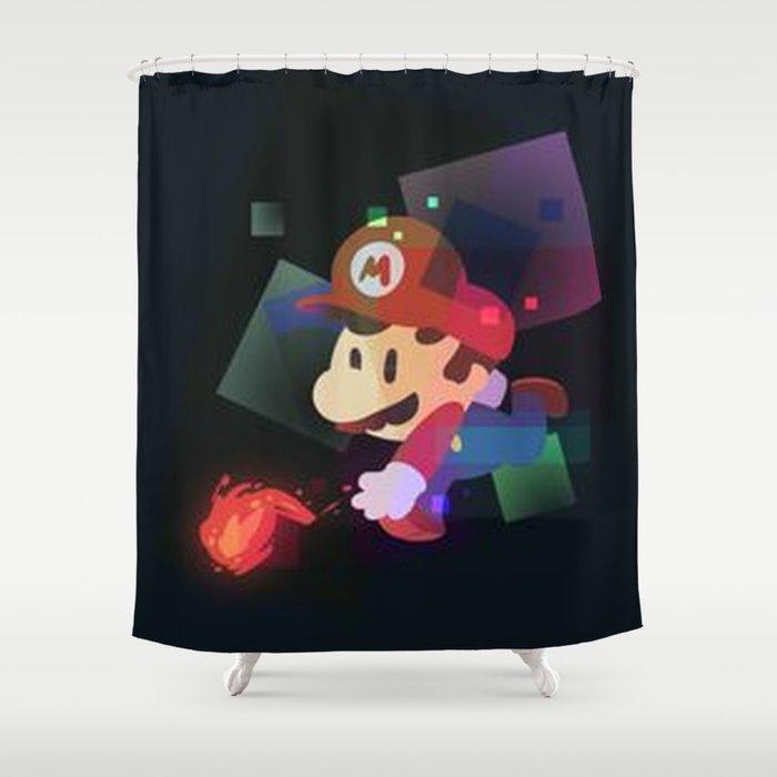 Mario Shower Curtain By Moreno23