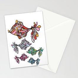Swirly Fish 2 Stationery Cards